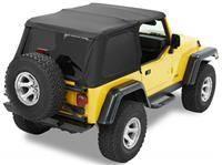 Soft Tops - Bestop Soft Top Jeep TJ Wrangler 1997-2006 - Bestop - Bestop Trektop NX Complete Soft Top Black Denim (97-06 TJ) 56820-15