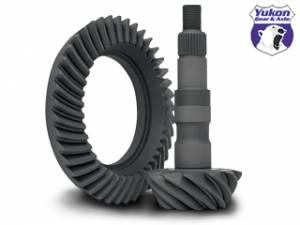"Yukon Gear & Axle - High performance Yukon Ring & Pinion gear set for GM 8.25"" IFS Reverse rotation in a 3.73 ratio."