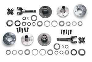 "Locking Hubs & Drive Flanges - Locking Hub Conversion Kits - Yukon Gear & Axle - Yukon Dana 30 & Rubicon Dana 44  (5  X 5.5"") 30 Spline Free Spin Hub Conversion Kit for Wranglers and Cherokees (YAWU-08)"