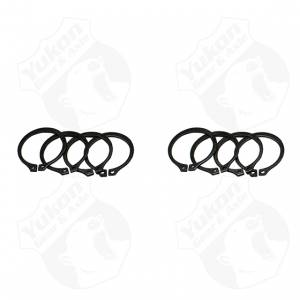 Yukon Gear And Axle - (4) Full Circle Snap Rings, fits Dana 60 733X U-Joint with aftermarket axle. (YP SJ-733X-502)