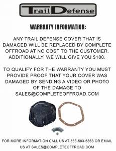 Trail Defense - Trail Defense Dana 44 Differential Cover - Cast Iron  (TD44A) - Image 7